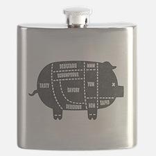 Pork Cuts III Flask