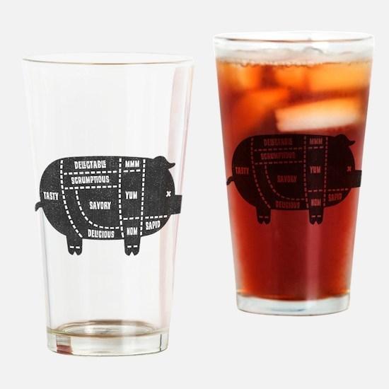 Pork Cuts III Drinking Glass
