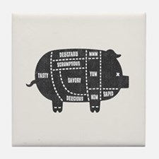 Pork Cuts III Tile Coaster
