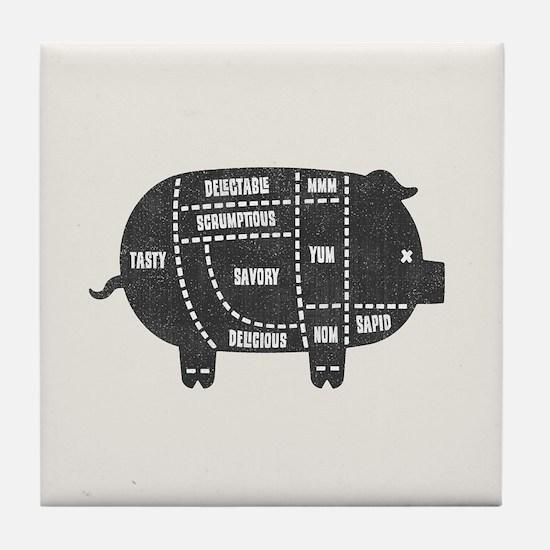 Pork Cuts III Tile Coaster