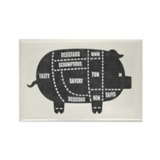 Pork Cuts III Rectangle Magnet