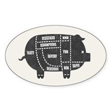 Pork Cuts III Decal