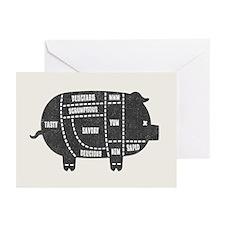 Pork Cuts III Greeting Cards (Pk of 10)
