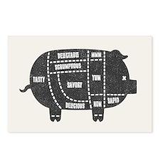 Pork Cuts III Postcards (Package of 8)