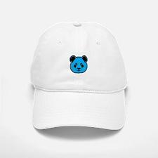 panda head blue 01 Baseball Baseball Cap
