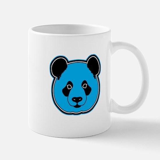 panda head blue 01 Mug