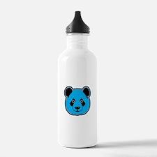 panda head blue 01 Water Bottle