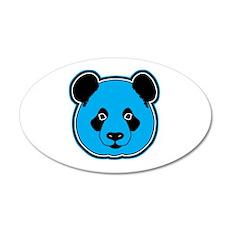 panda head blue 01 Wall Decal