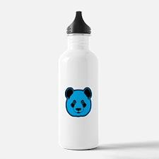 panda head blue 02 Water Bottle