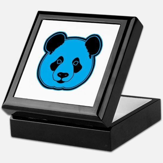 panda head blue 02 Keepsake Box