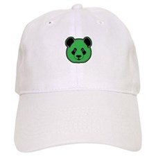 panda head green 01 Baseball Cap