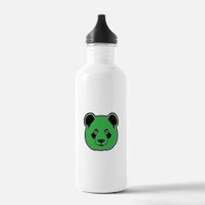 panda head green 01 Water Bottle