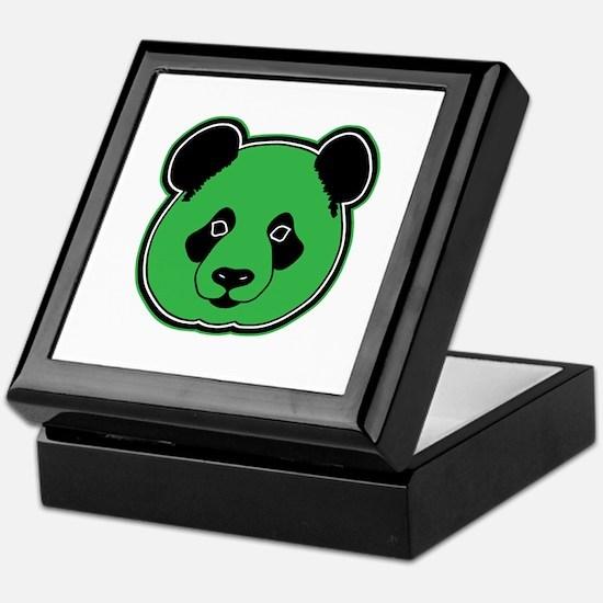 panda head green 01 Keepsake Box