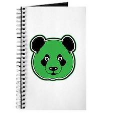 panda head green 01 Journal