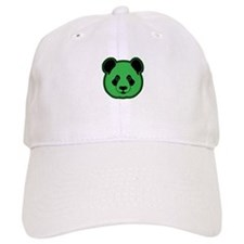 panda head green 02 Baseball Cap