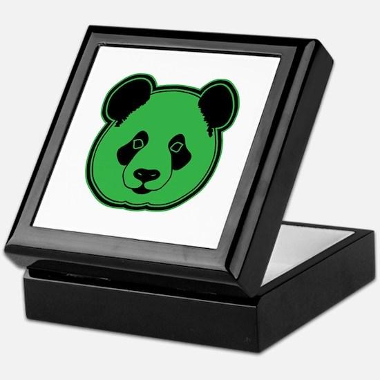 panda head green 02 Keepsake Box