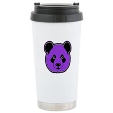 panda head purple 01 Travel Mug