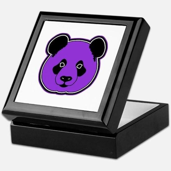 panda head purple 01 Keepsake Box