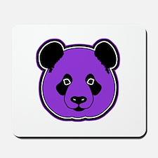 panda head purple 01 Mousepad