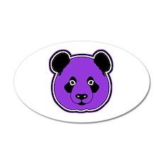 panda head purple 01 Wall Decal