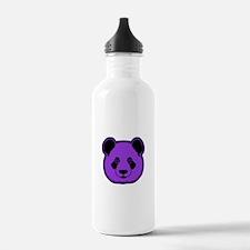 panda head purple 02 Water Bottle