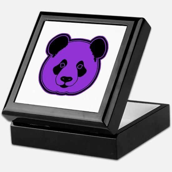 panda head purple 02 Keepsake Box