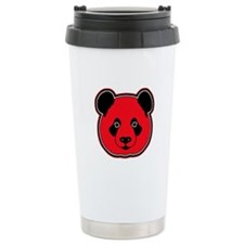 panda head red 01 Travel Mug