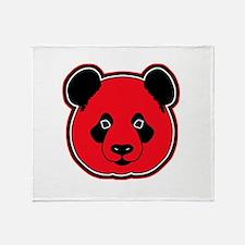 panda head red 01 Throw Blanket