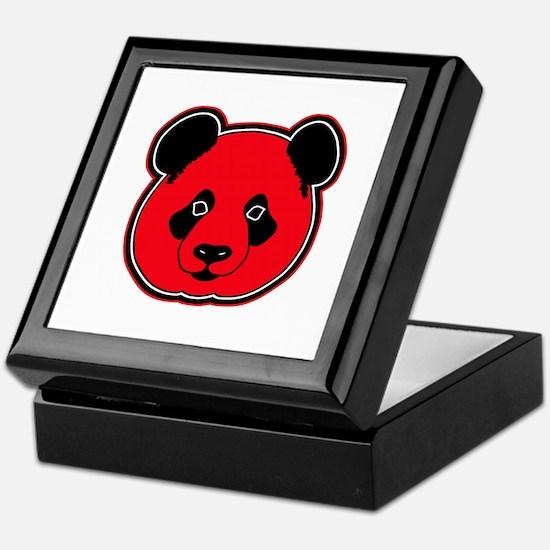 panda head red 01 Keepsake Box