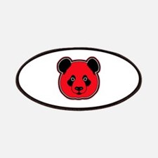 panda head red 01 Patches