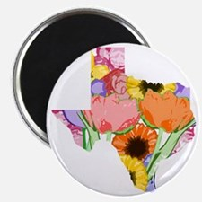 Floral Texas Magnet