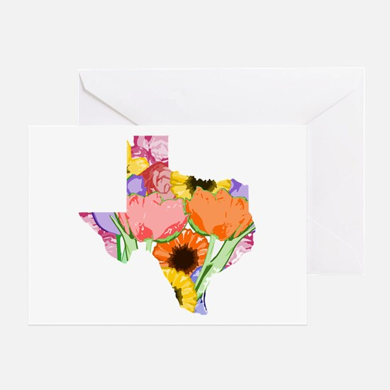 Floral Texas Greeting Cards