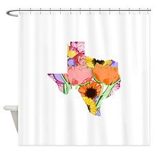 Floral Texas Shower Curtain
