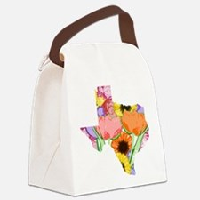 Floral Texas Canvas Lunch Bag
