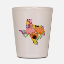 Floral Texas Shot Glass
