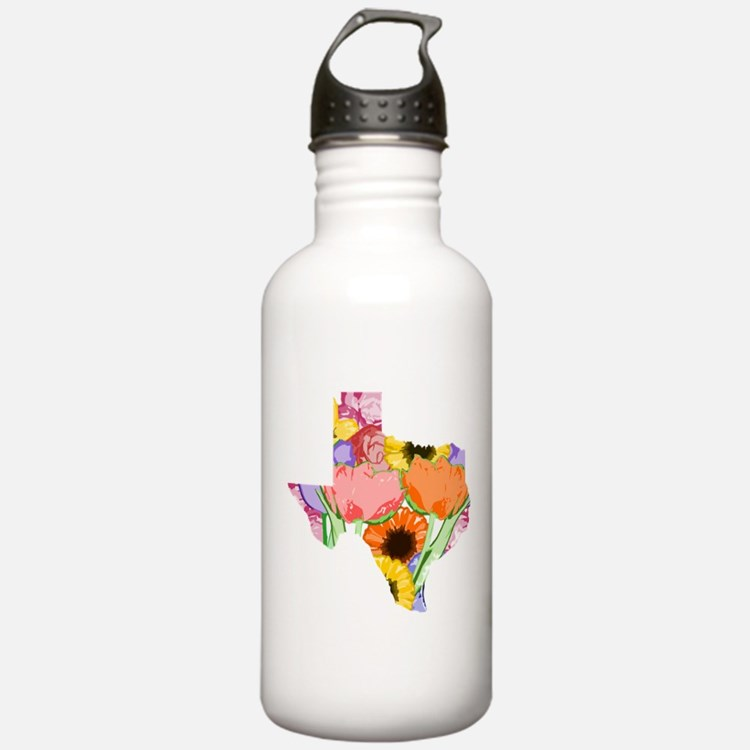 Floral Texas Water Bottle