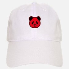 panda head red 02 Baseball Baseball Cap