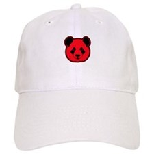 panda head red 02 Baseball Cap