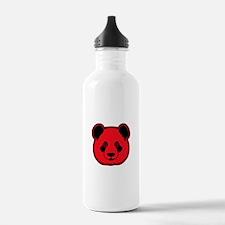 panda head red 02 Water Bottle