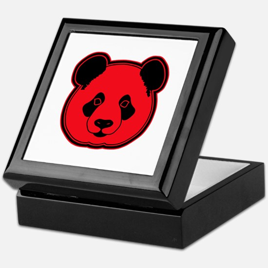 panda head red 02 Keepsake Box