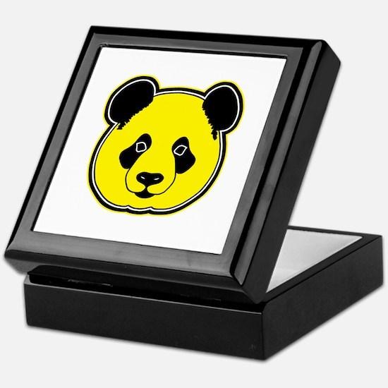 panda head yellow 01 Keepsake Box