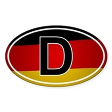 German Oval Car Sticker - Flag Design