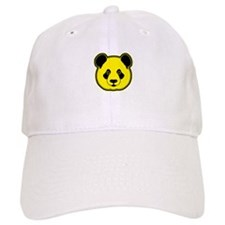 panda head yellow 02 Baseball Cap