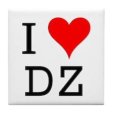 I Love DZ Tile Coaster