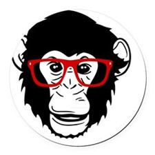 Monkey Round Car Magnet
