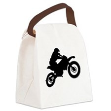 Cute Bike race Canvas Lunch Bag