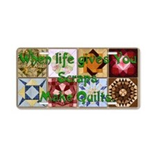 Harvest Moons Quilts Aluminum License Plate