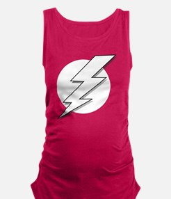 Black and White Lightning Bolt  Maternity Tank Top