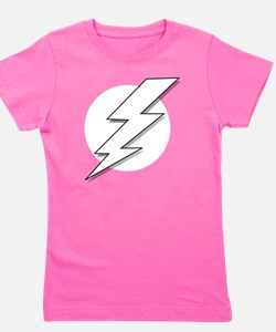 Black and White Lightning Bolt  Girl's Tee