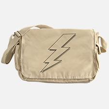 Black and White Lightning Bolt  Messenger Bag